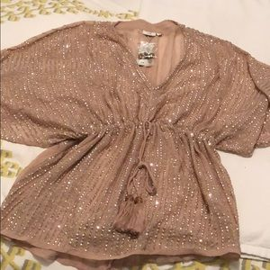 River Island sequin top with tags!